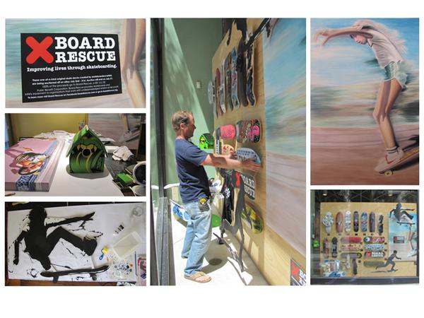 Board Rescue Urban Outfitters window