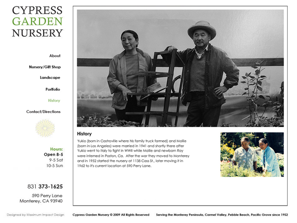 Cypress Garden Nursery Website