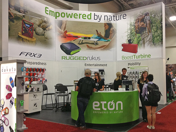 Eton Outdoor Retailer Booth