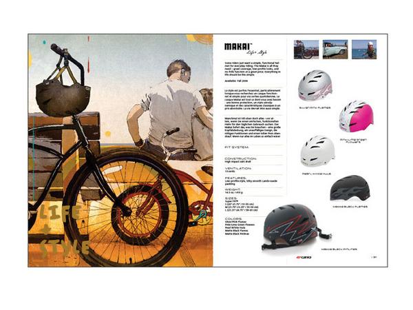 Giro Catalog Design illustration James Jean