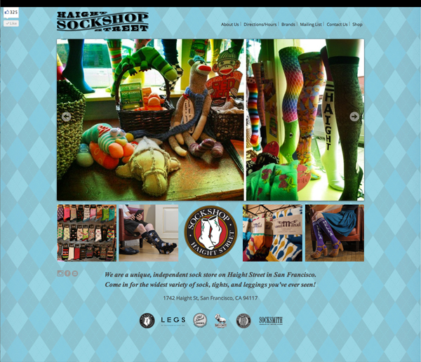 Sockshop Haight Website