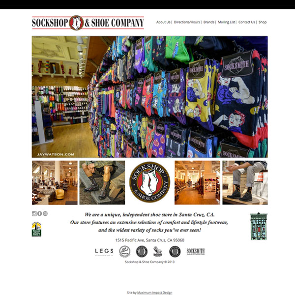 Sockshop and Shoe Website