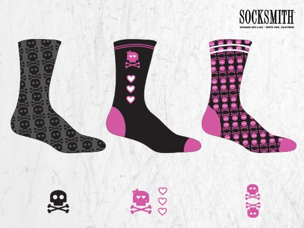 Socksmith GIrl skull socks