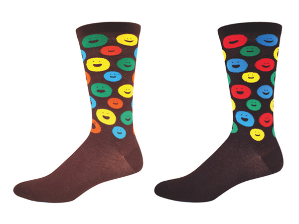 Socksmith Happy Face Sock graphic