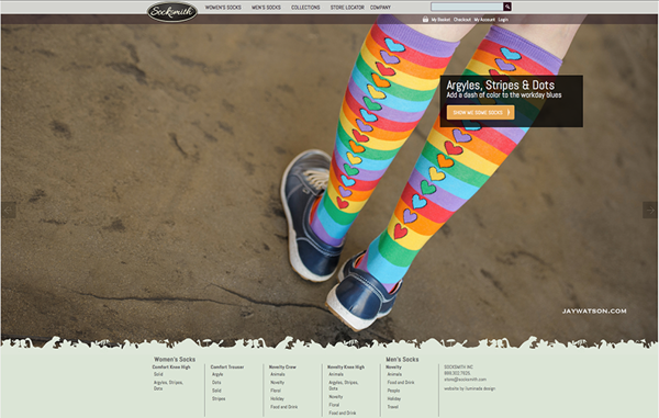 Socksmith Design Website Rainbow Sock