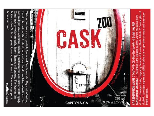 Beer label design for Sante Adairius Rustic Ales in Capitola.