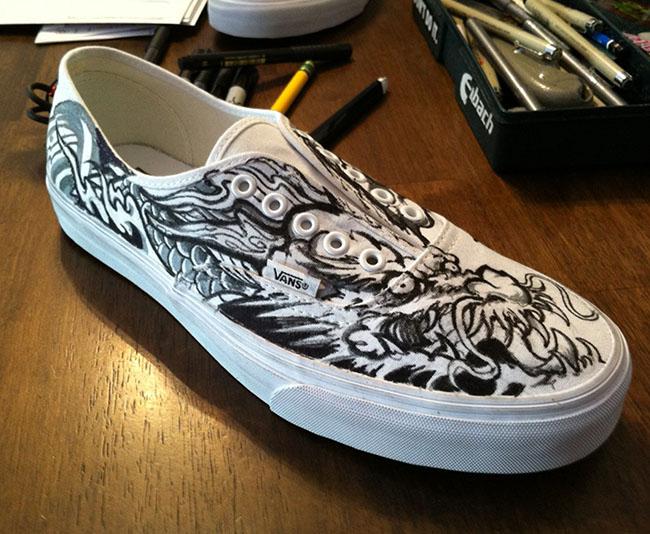 Danny Sun custom Vans