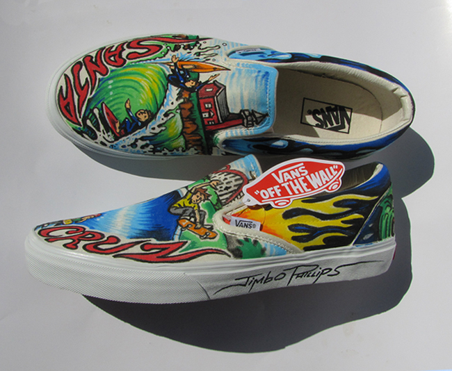 Jimbo Phillips custom painted Vans