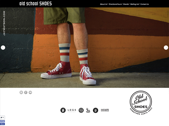 Old school shoes website