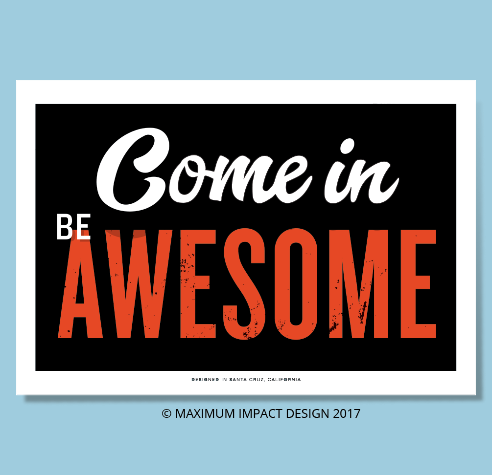 Be Awesome CrossFit sign